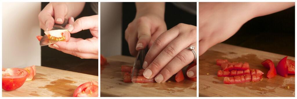 Chopping Tomatoes, Pico de Gallo Prep