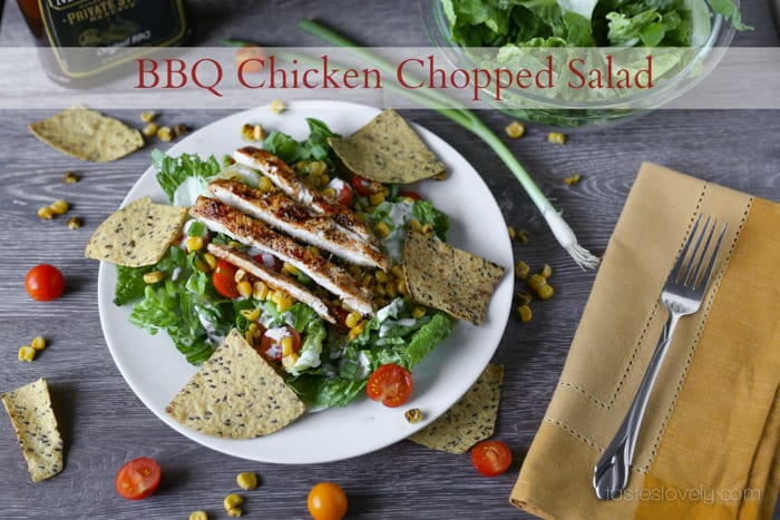 BBQ Chicken Chopped Salad Recipe | Tastes Lovely