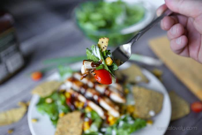 BBQ Chicken Chopped Salad Recipe   Tastes Lovely
