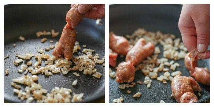 Sausage Stuffed Zucchini