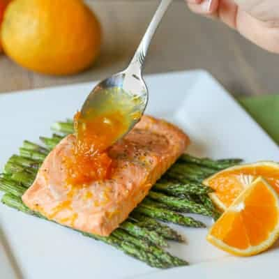 Grilled Salmon with Orange Maple Glaze | Tastes Lovely