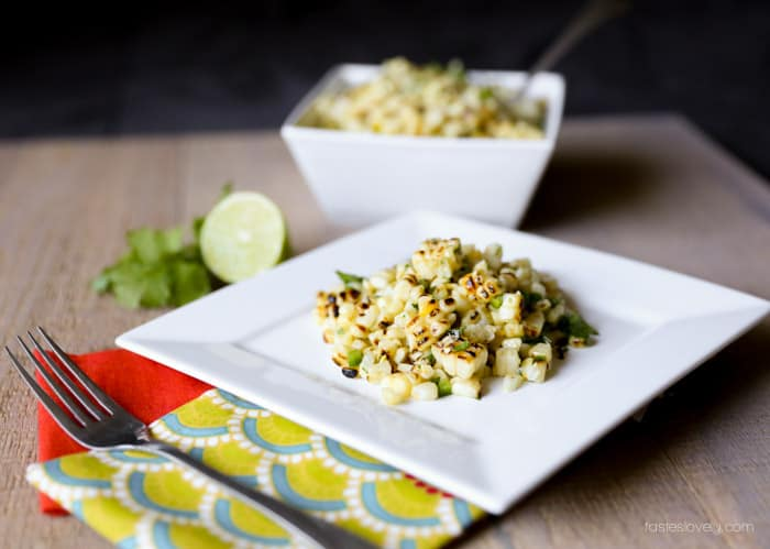 Mexican Charred Corn Salad | tasteslovely.com