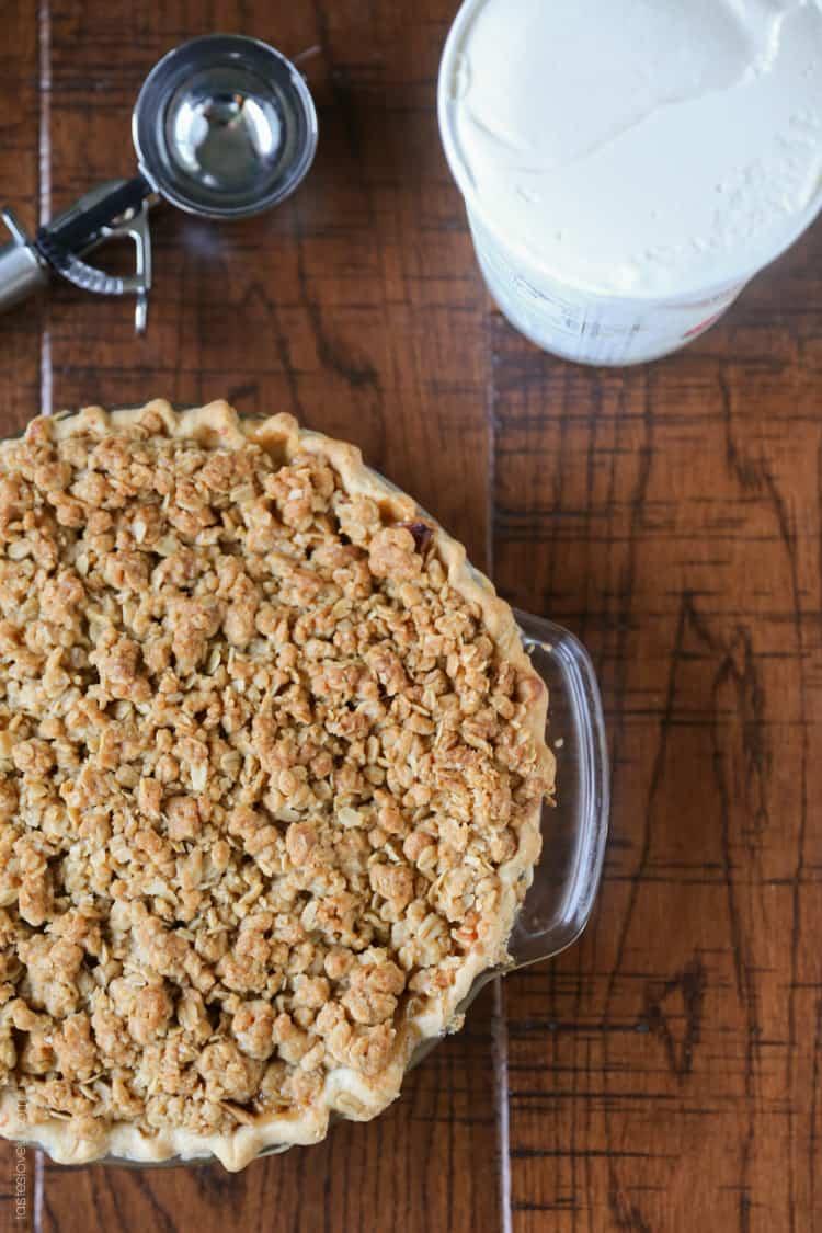 Easy Apple Crumble Pie — Tastes Lovely
