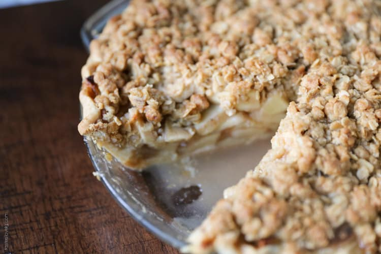 Easy Apple Crumble Pie - Tastes Lovely