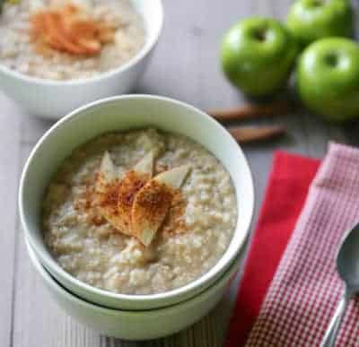 Cinnamon Apple Steel Cut Oatmeal | tasteslovely.com