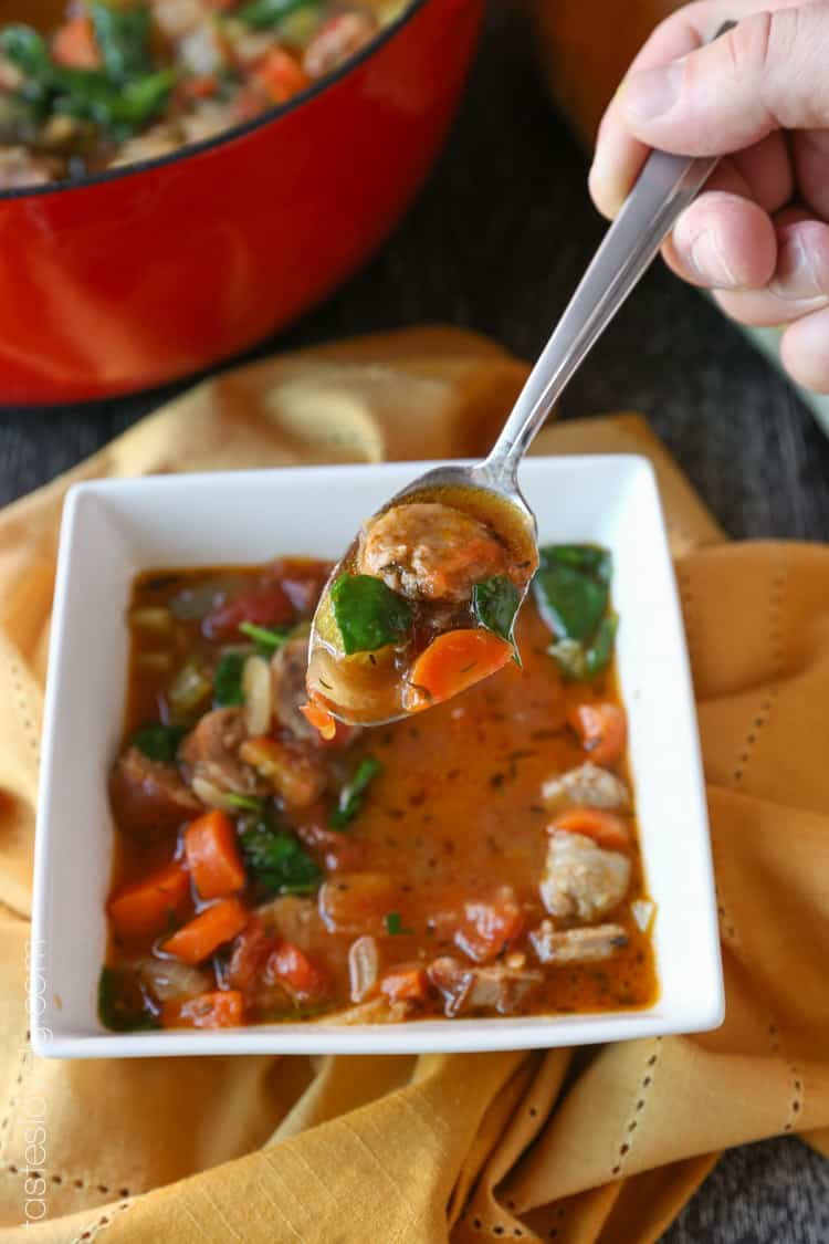 how to make italian sausage soup