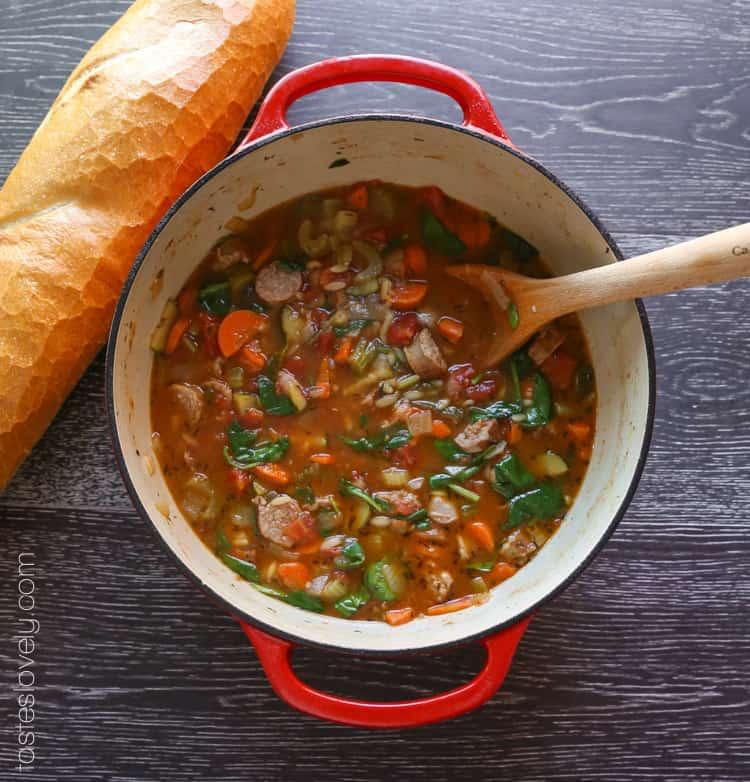 Italian Sausage and Vegetable Soup