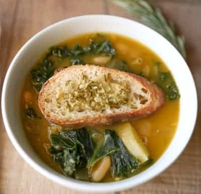 Potato, White Bean & Kale Soup | tasteslovely.com