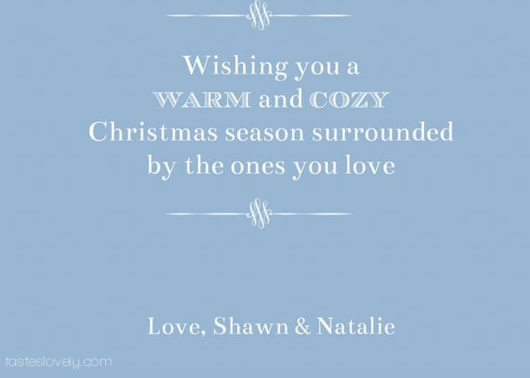 Tastes Lovely Christmas Card 2013