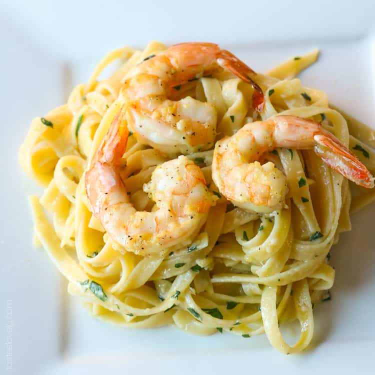 Lemon Shrimp Scampi Pasta Tastes Lovely