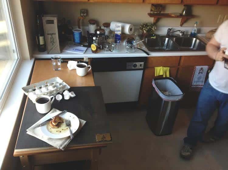 Photo Set Up + Messy Kitchen