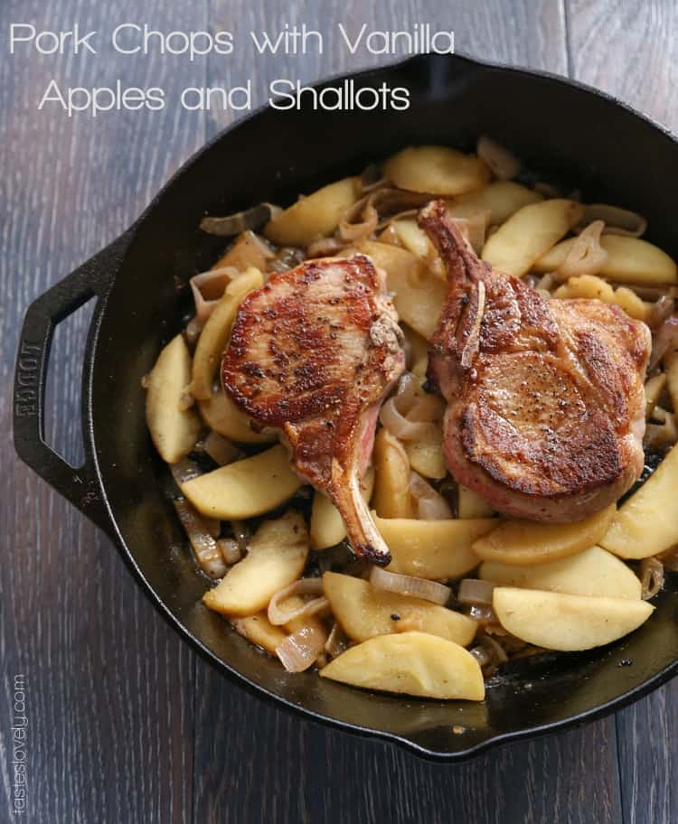Pork Chops with Vanilla Apples and Shallots