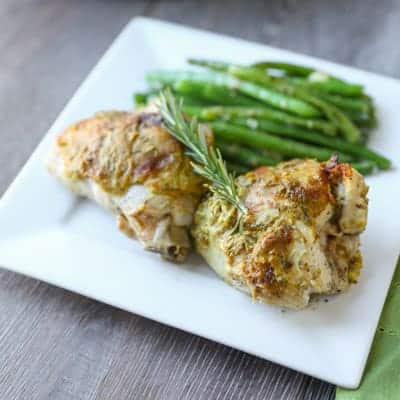 Rosemary Mustard Skillet Chicken | tasteslovely.com