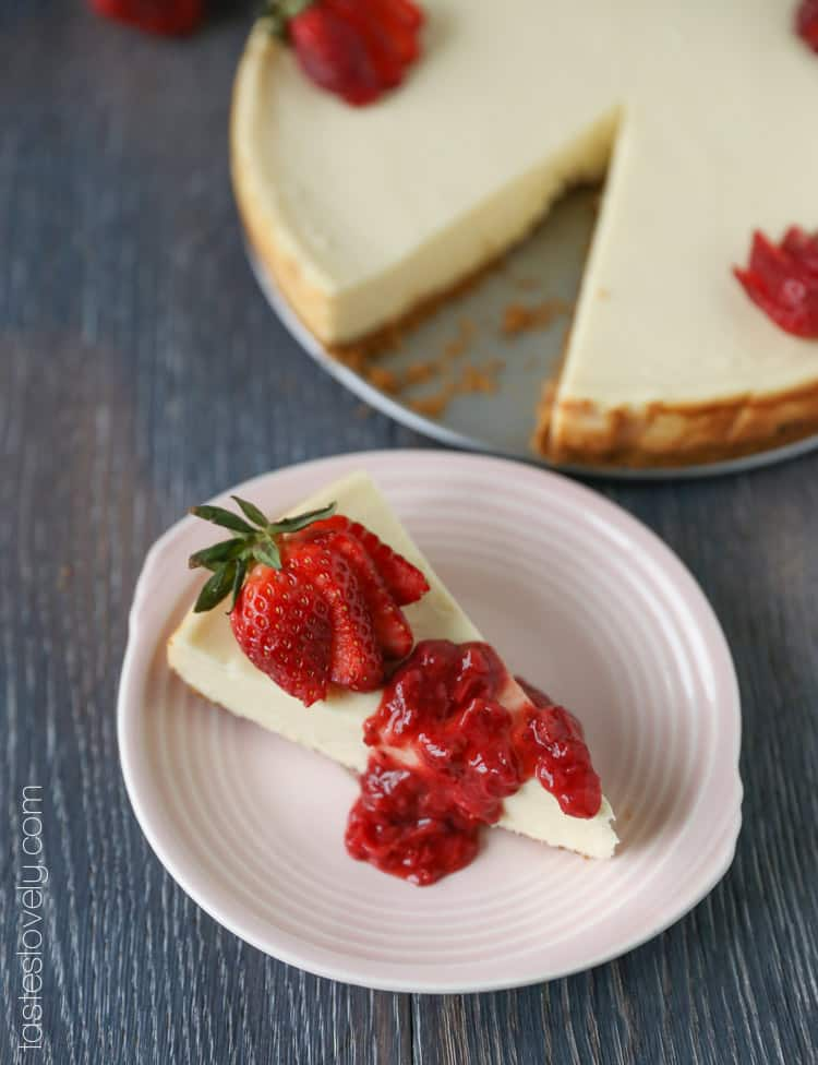 The easiest, ultra creamy cheesecake. It will not crack while baking!