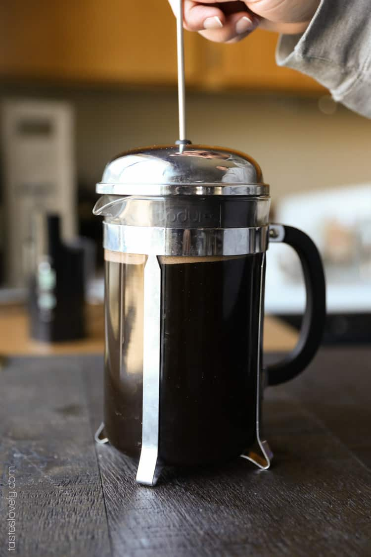 french press coffee tastes lovely. Black Bedroom Furniture Sets. Home Design Ideas