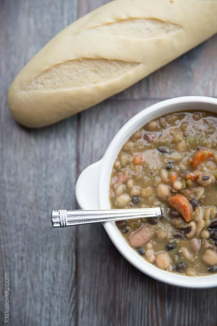 Mixed Bean and Ham Hock Soup