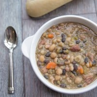 Mixed Bean and Ham Hock Soup