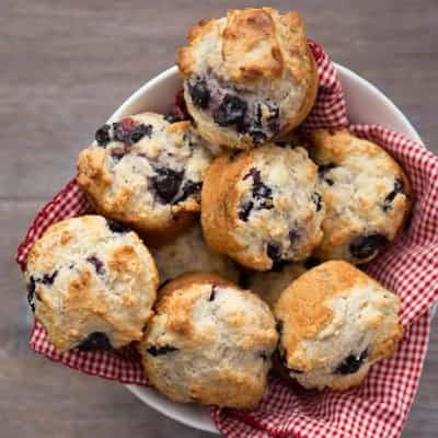 Moist Blueberry Muffins | tasteslovely.com