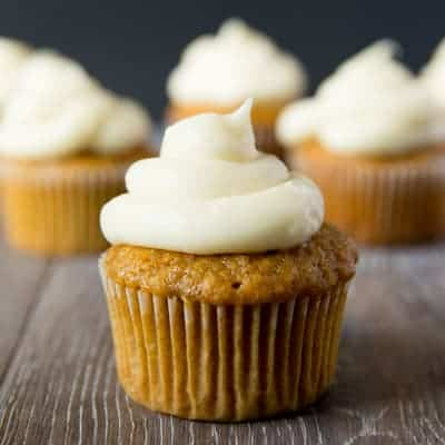 Carrot Cake Cupcakes with Cream Cheese Frosting | tasteslovely.com