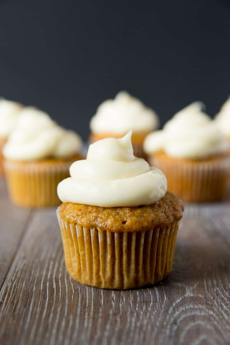 Carrot Cake Cupcakes with Cream Cheese Frosting — Tastes Lovely