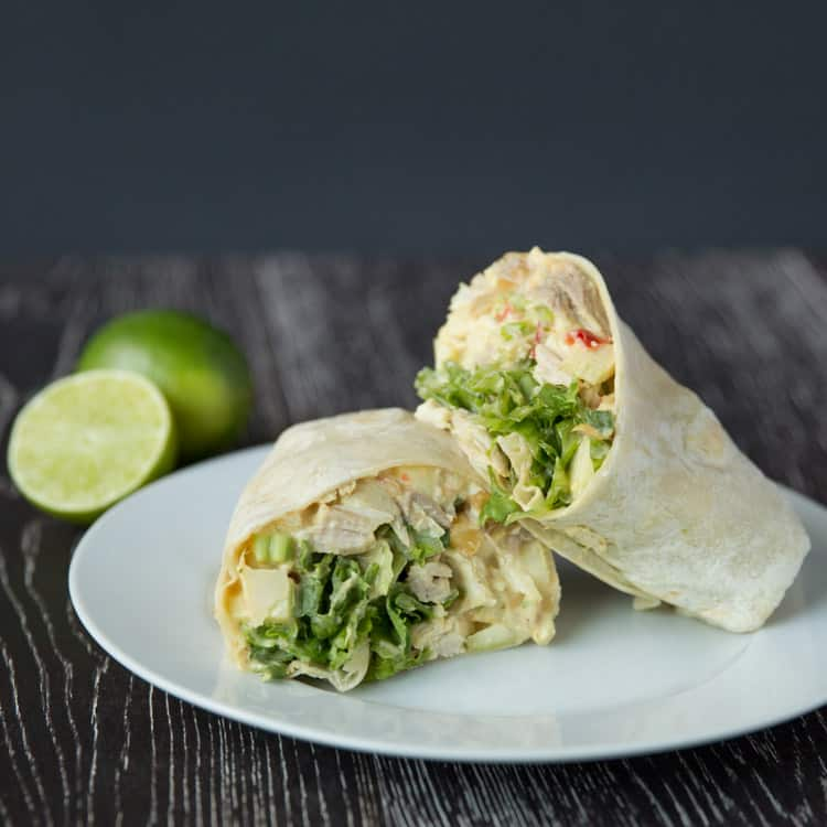 Curried Chicken Salad and Apple Wraps — Tastes Lovely