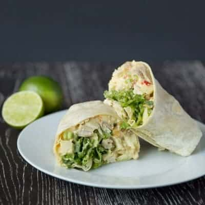 Curried chicken salad and apple wraps | tasteslovely.com