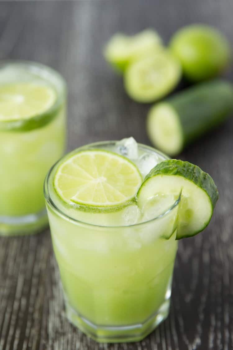 Refreshing cucumber lime margaritas. 3 ingredients, and only 135 ...
