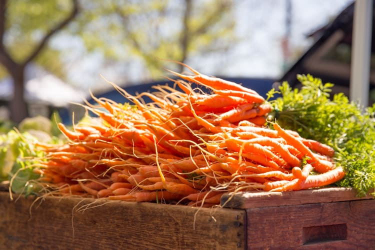 carrots at the farmers market