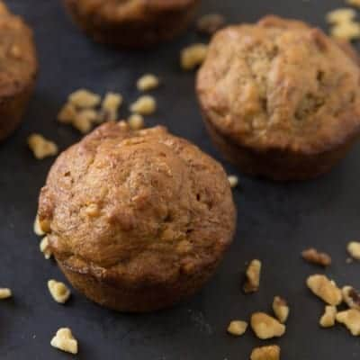 Banana nut muffins | tasteslovely.com