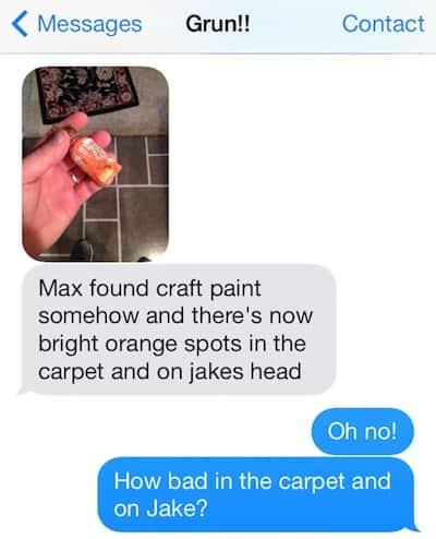 Paint Accident Text