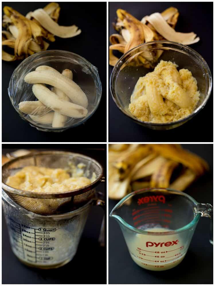 Perfect banana nut muffins. Made with 5 bananas, full of banana flavor!