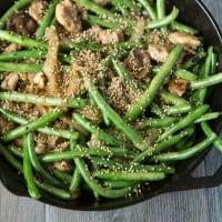 Green Bean Stir Fry with Chicken & Sesame Seeds
