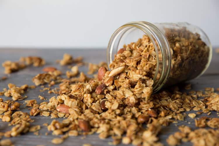 Easy homemade granola, lots of nuts and lots of crunch!