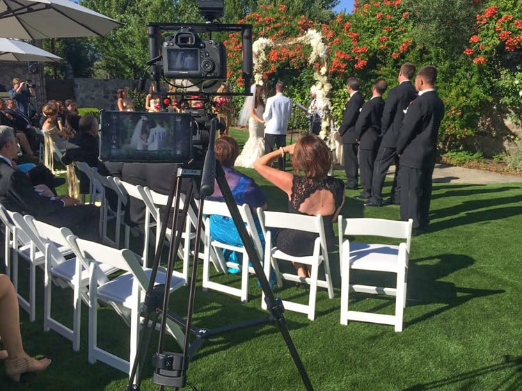 Filming Wedding Setup