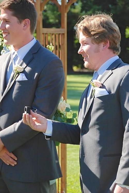 Shawn filming at wedding