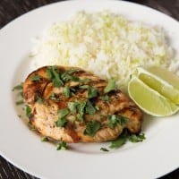 Thai coconut lime chicken | tasteslovely.com