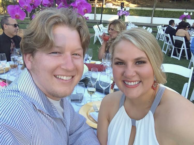 Us at Wente Wedding