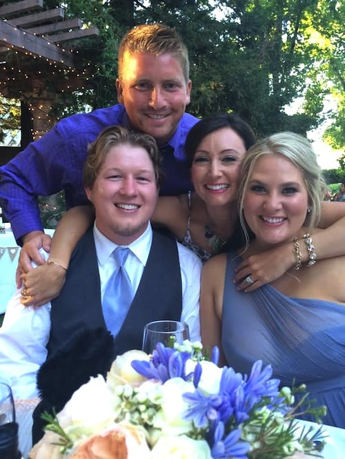 Us at the wedding