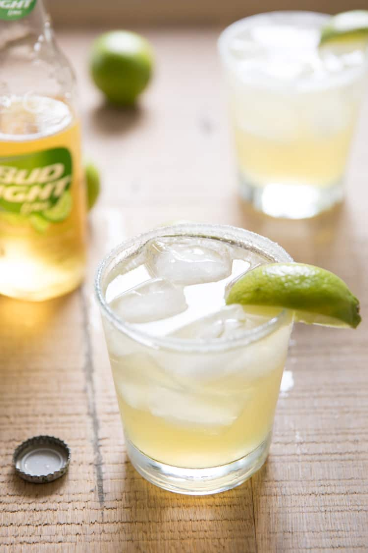 Beer Margaritas made with Bud Light Lime, one of the easiest and tastiest margaritas I've ever had!
