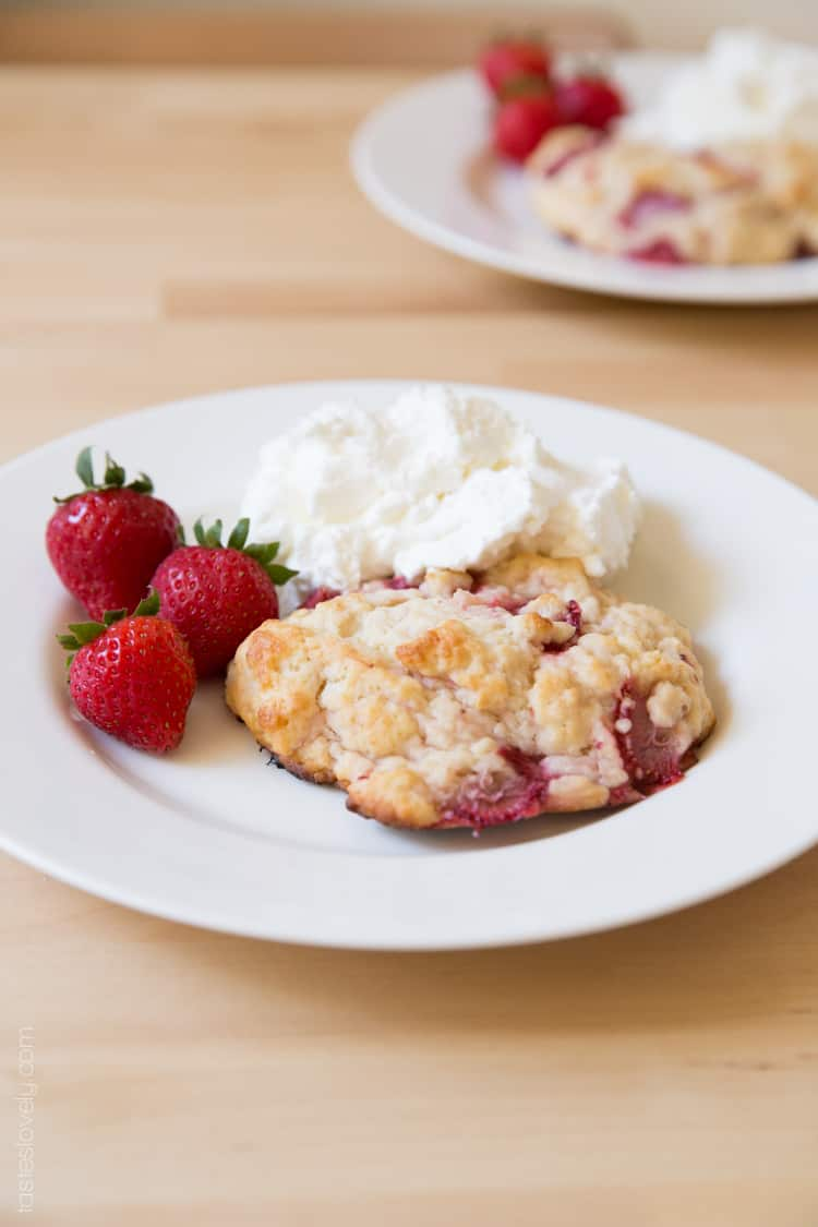 Buttermilk Strawberry Shortcake Biscuits
