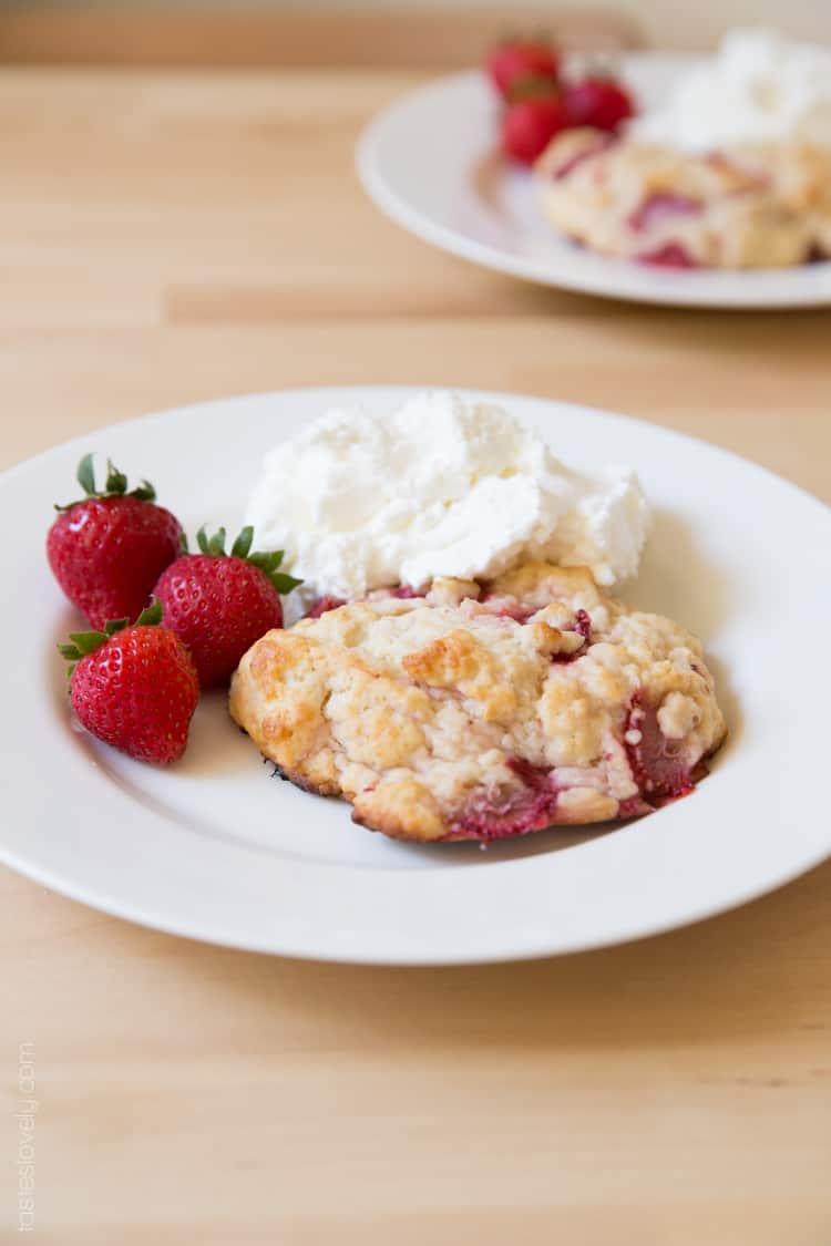 Buttermilk Strawberry Shortcake Biscuits