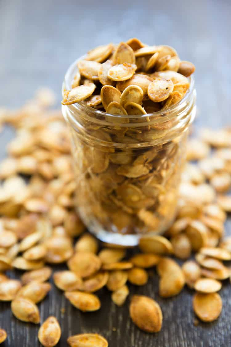 ... that isn't boring are these roasted spicy seasoned pumpkin seeds