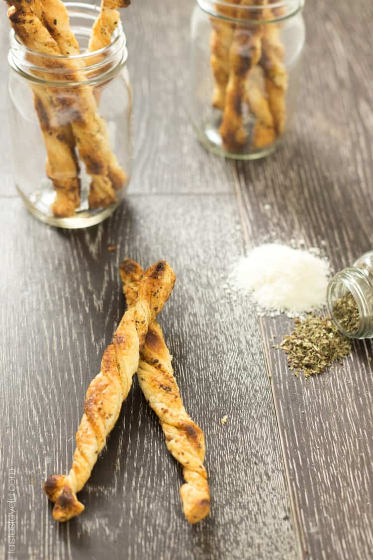 You must make these Herb and Cheese Puff Pastry Sticks! Easiest and tastiest appetizer ever!