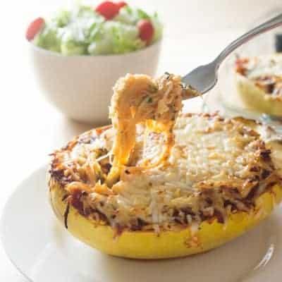 Spaghetti Squash Lasagna Boats | tasteslovely.com-2