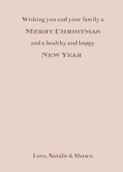 Christmas Card 2014 - Back