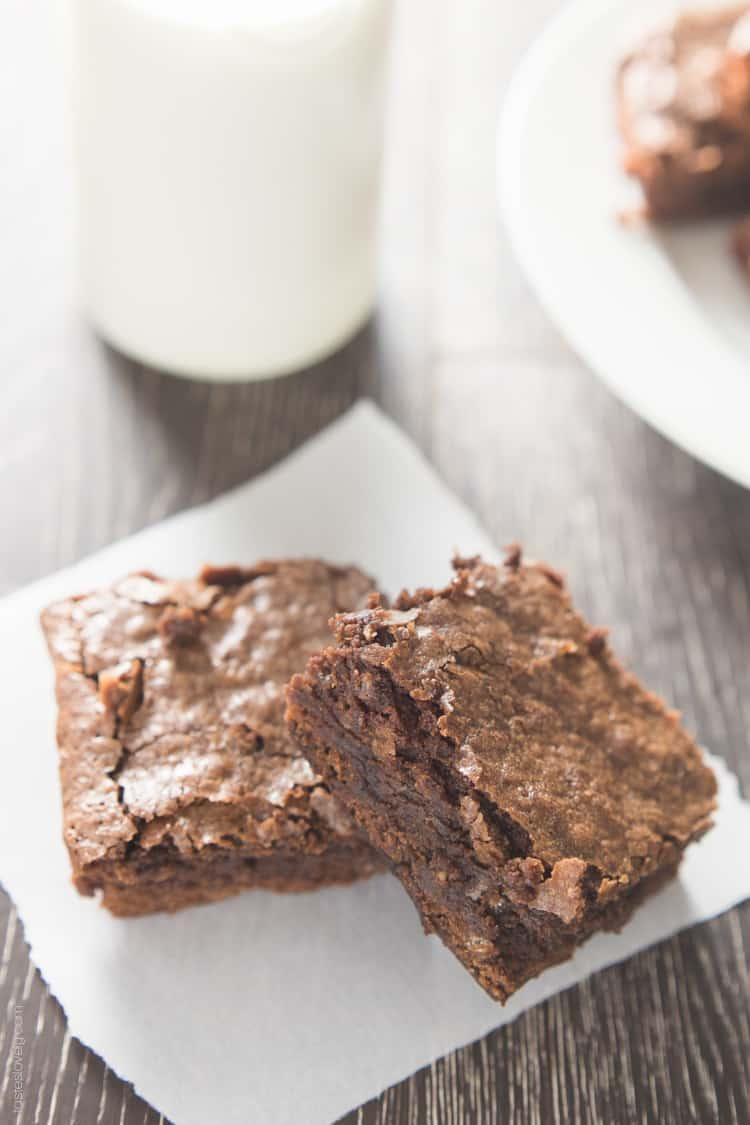 Homemade Fudgy Chewy Brownies-1