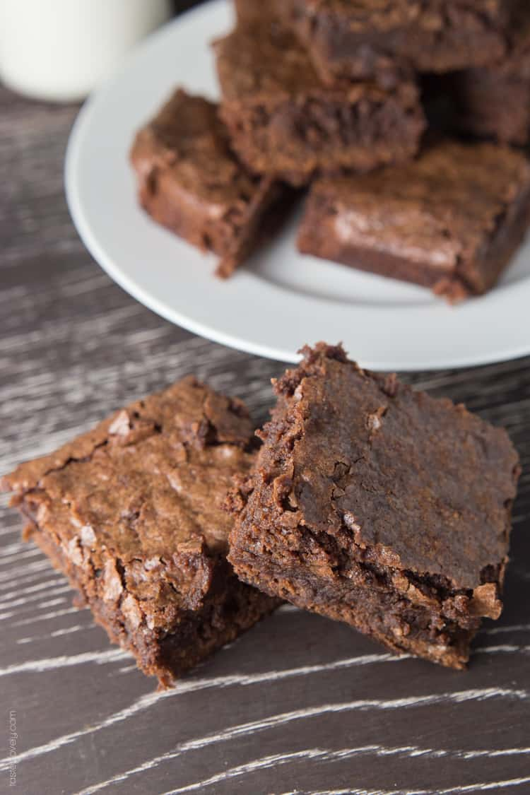 Homemade Fudgy Chewy Brownies-2