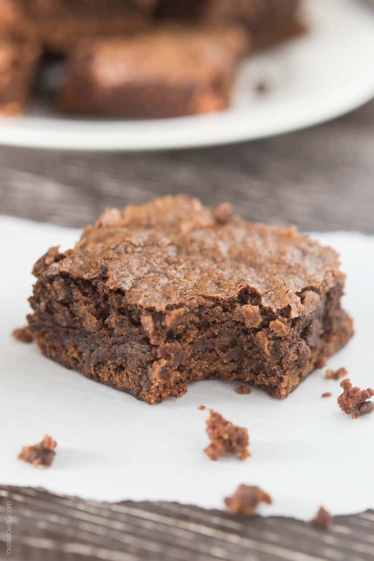 Homemade Fudgy Chewy Brownies-3