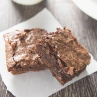 Homemade Fudgy Chewy Brownies
