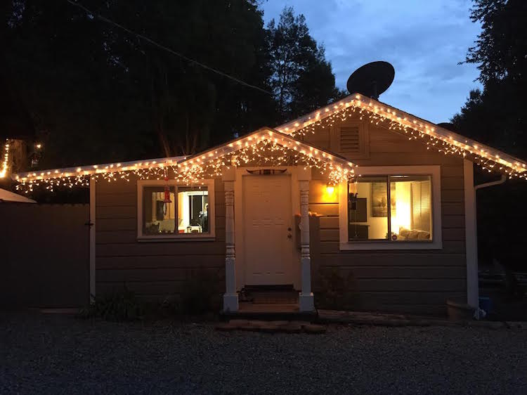 Our House with Christmas Lights